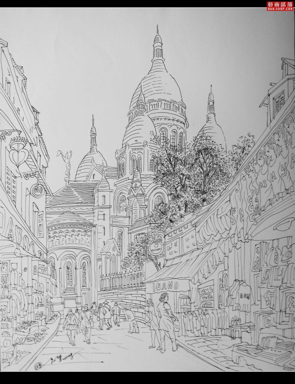 【有教堂的城市—旺忘望旅游钢笔速写展】